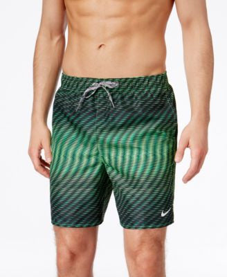 Nike Men's Diamond-Stripe Swim Trunks