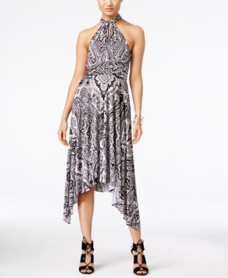 INC International Concepts Printed Infinity Convertible Wrap Dress, Only at Vogily