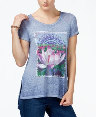 Lucky Brand Lotus Graphic T-Shirt