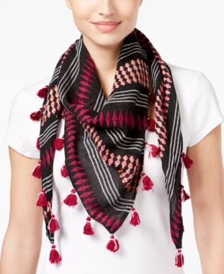 Collection XIIX Space-Dyed Striped Triangle Scarf