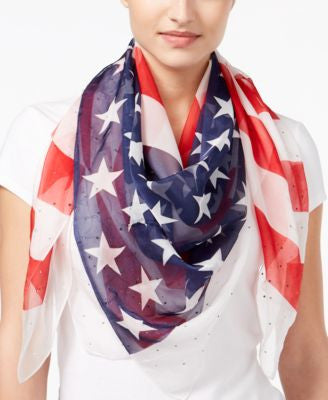 Collection XIIX Studded Americana Square Scarf