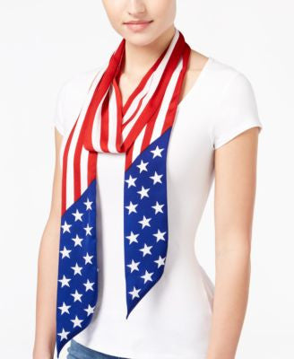 Collection XIIX Americana Long and Skinny Scarf