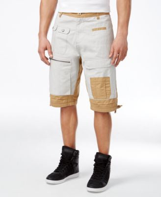 Sean John Men's Big & Tall Colorblock Flight Shorts