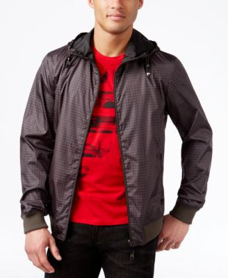 Armani Jeans Men's Grid Lightweight Jacket