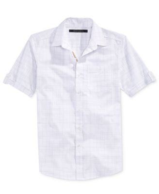Sean John Men's Chisel Checked Short-Sleeve Shirt
