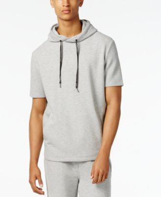 Sean John Men's Pull-Over Short-Sleeve Hoodie