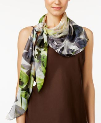 Vince Camuto Sketchbook Blooms Silk Square Scarf