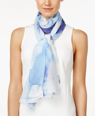 Style & Co. Gemstone Tie-Dyed Wrap, Only at Vogily