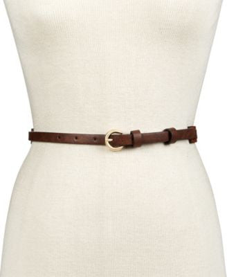 INC International Concepts Milled Colorblock Skinny Belt, Only at Vogily