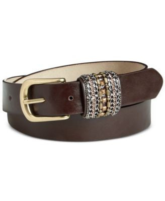 INC International Concepts Beaded Keeper Pant Belt, Only at Vogily