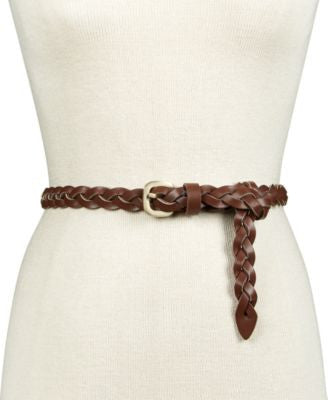 INC International Concepts Triple Woven Braid Skinny Belt, Only at Vogily