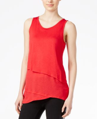 kensie Sleeveless Layered Tank Top