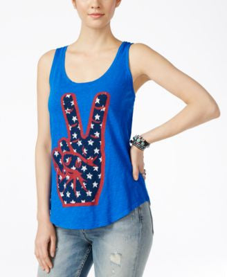 Lucky Brand Peace Graphic Tank Top