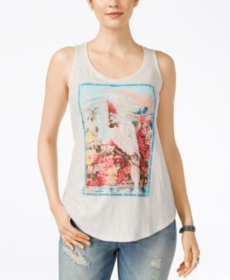 Lucky Brand Parrot Graphic Tank Top