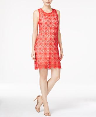 kensie Sleeveless Lace Sheath Dress