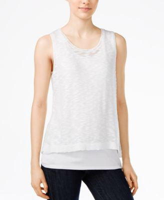 kensie Sleeveless Layered Top