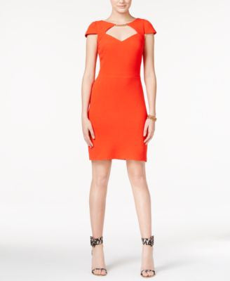Jessica Simpson Embellished Cutout Sheath Dress