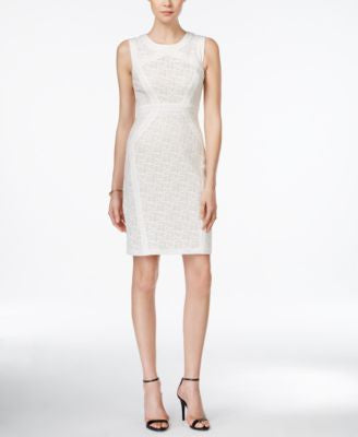 JAX Sleeveless Lace Sheath Dress