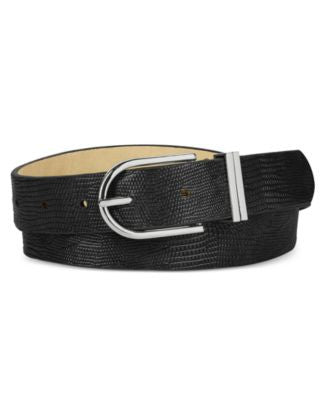 Style & Co. Lizard-Embossed Double Keeper Belt, Only at Vogily