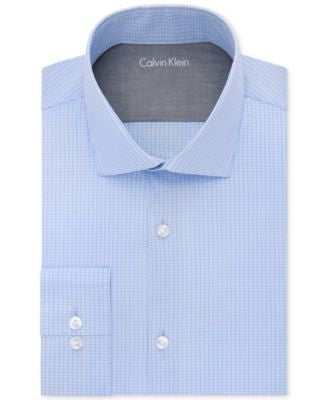 Calvin Klein X Extra Slim-Fit English Blue Mini Check Dress Shirt