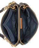 Tommy Hilfiger Double Zipper Pebble Leather Crossbody