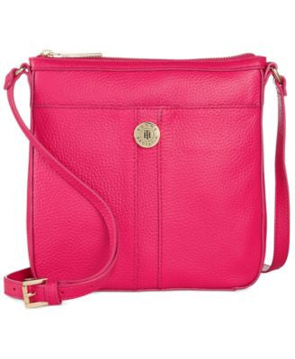 Tommy Hilfiger Elaine Pebble Leather Crossbody