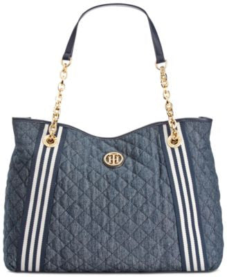 Tommy Hilfiger Quilted Denim Tote