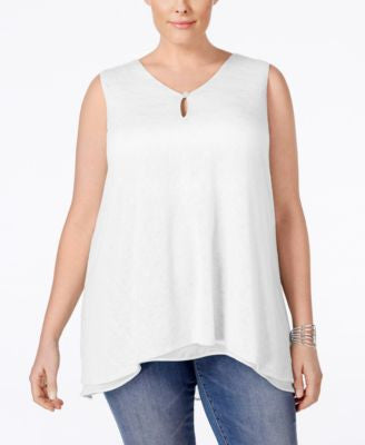 Style & Co. Plus Size Handkerchief-Hem Top, Only at Vogily
