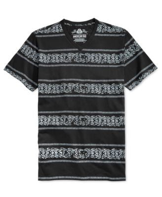 American Rag Men's Bike Track Striped Short-Sleeve T-Shirt, Only at Vogily