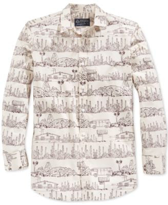 American Rag Men's Desert-Print Long-Sleeve Shirt, Only at Vogily