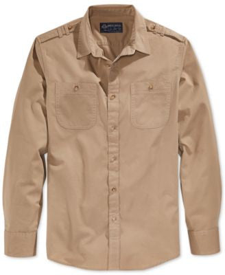 American Rag Men's Dual-Pocket Long-Sleeve Shirt, Only at Vogily