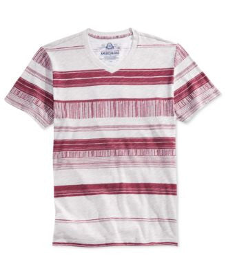 American Rag Men's Basic Stripe V-Neck T-Shirt, Only at Vogily