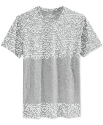 American Rag Men's Patternblocked Geo-Print V-Neck T-Shirt, Only at Vogily
