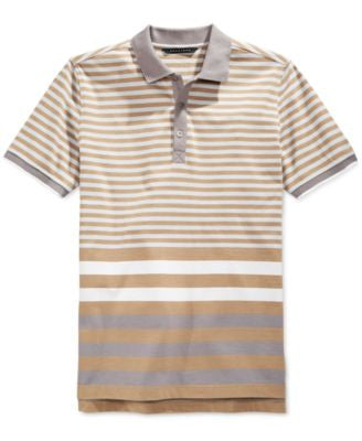 Sean John Men's Core Thin Striped Polo Shirt