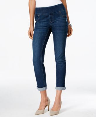 Style & Co. Petite Cropped Normandy Wash Pull-On Jeans, Only at Vogily
