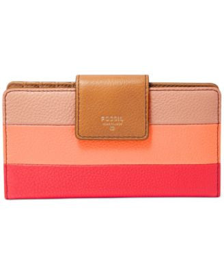 Fossil Sydney Leather Patchwork Tab Wallet