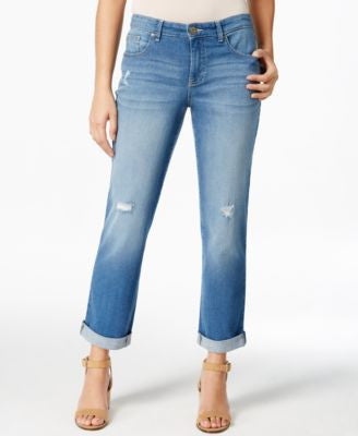 Style & Co. Cropped Saint Wash Jeans, Only at Vogily
