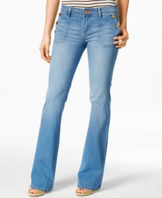 Kut from the Kloth Jane Realize Wash Flare-Leg Jeans