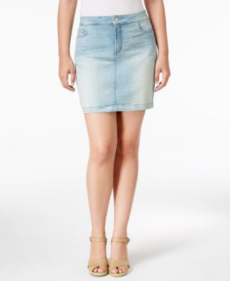 NYDJ Emily Mykonos Wash Denim Skirt
