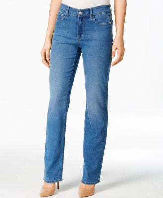 NYDJ Marilyn Arabian Sea Wash Straight-Leg Jeans