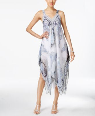 Style & Co. Paisley-Print Sleeveless Dress, Only at Vogily