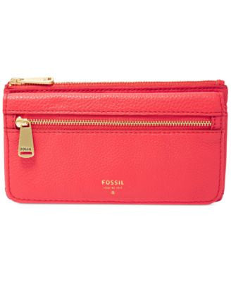 Fossil Preston Leather Flap Clutch Wallet