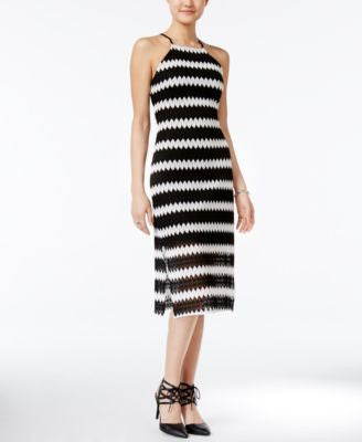 Bar III Printed Knit Midi Dress, Only at Vogily