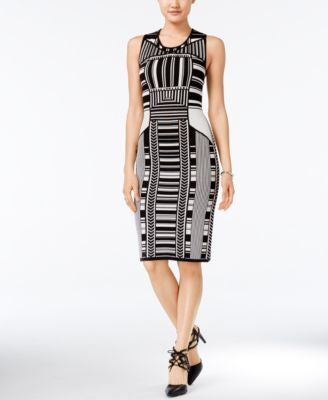 Bar III Intarsia-Knit Bodycon Dress, Only at Vogily