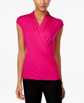 Vince Camuto Printed Wrap Top, Only at Vogily