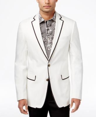 Tallia Big & Tall Men's Vogue Slim-Fit Contrast-Trim Sport Coat