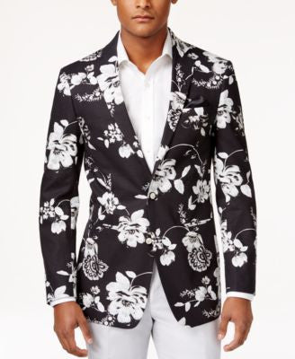 Tallia Men's Big & Tall Viggio Slim-Fit Floral-Print Sport Coat