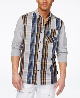 Sean John Men's Hybrid Drop Tail Shirt
