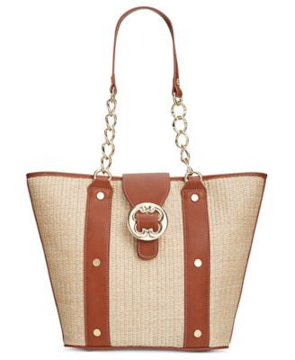 Emma Fox Straw Glenham Medium Tote