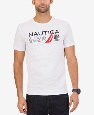 Nautica Men's Big & Tall Signature 1983 Graphic T-Shirt